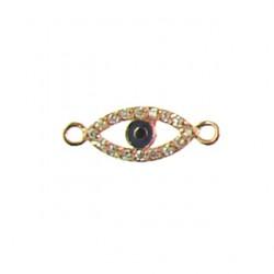 rose gold color vermeil lucky-eye-7x14mm-6c-007-rg