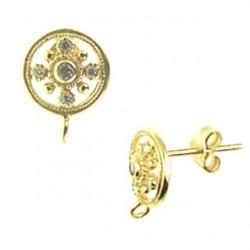 vermeil post-earring-52-1492-v