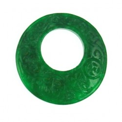 green dyed jade donut gdj-p109