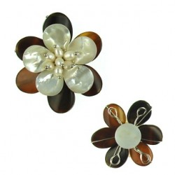 pendant flower agate 65mm flo-p104