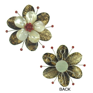 pendant flower agate 65mm flo-p105