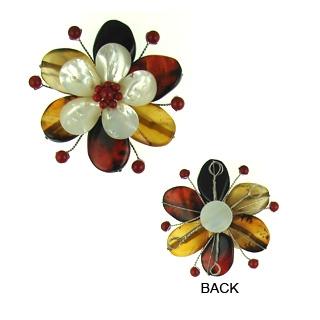 pendant flower agate 65mm flo-p106
