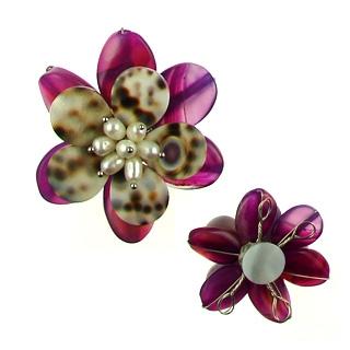 pendant flower agate flo-p107