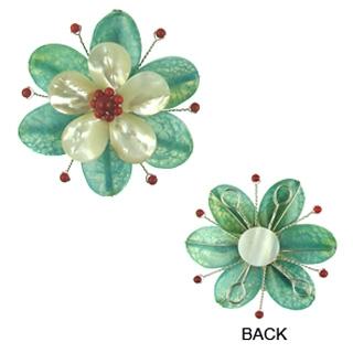 pendant flower agate flo-p108