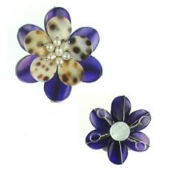 pendant flower agate flo-p110
