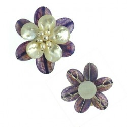pendant flower agate flo-p112