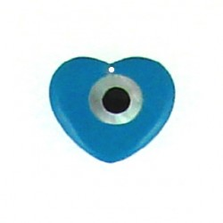 polymer turquoise color heart le-p109