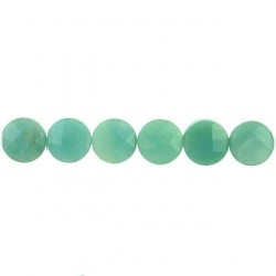 coin faceted amazonite amz-f106