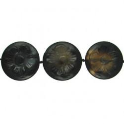 coin with flower-black-dream-agate-bda-f120