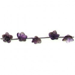 flower carved amethyst n-1252