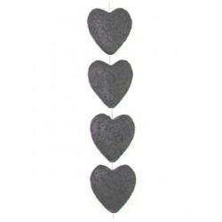 heart black imitation lava blil-f110