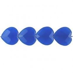 heart blue dyed qtz bdq-f102