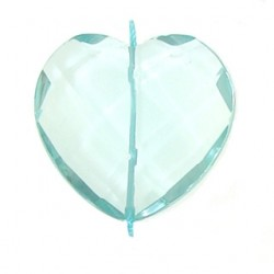 heart faceted aquamarine glass aqq-f102