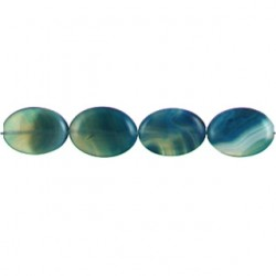 oval Blue Dyed Agate blua-f104