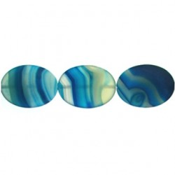 oval Blue Dyed Agate blua-f114