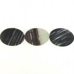 oval black dream agate bda-f104