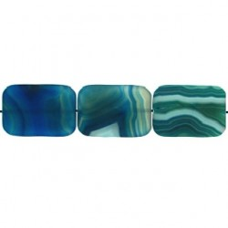 rectangle Blue Dyed Agate blua-f115