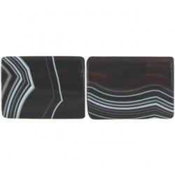 rectangle black dream agate bda-f103