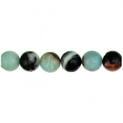 round amazonite multicolor amc-101