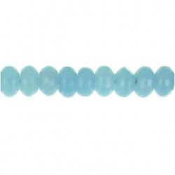roundel faceted aquamarine qtz aqqu-f102