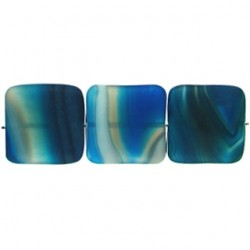 square Blue Dyed Agate blua-f116