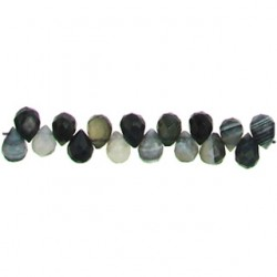 teardrop black dream agate bda-f116