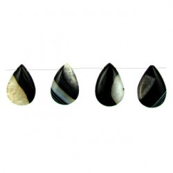 teardrop black dream agate bda-f118