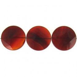 coin faceted carnelian cs-f108
