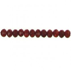 faceted roundel carnelian  car-f103