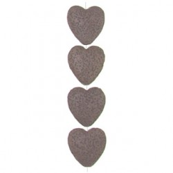 heart brown imitation lava  bril-f104