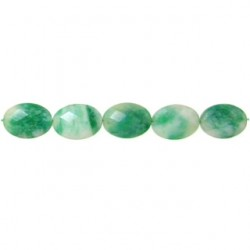 oval faceted candy jade green cjg-f105