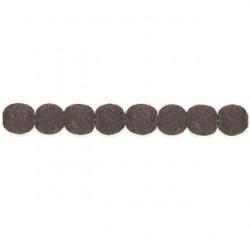 round brown imitation lava bril-100