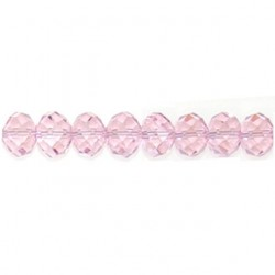 roundel pink chinese crystal cc-f113