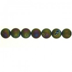 Drusy Multicolor Round Beads