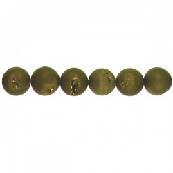Drusy gold color round