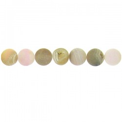 Round Drusy Agate Grey Color