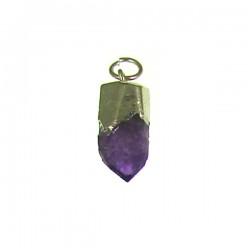 SP- Amethyst rough point pendant