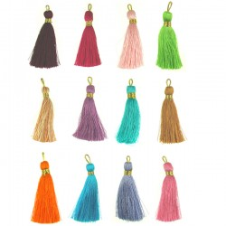 Tassel gold color thread
