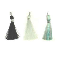 Tassel silver color thread