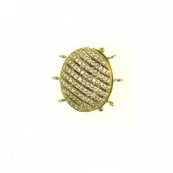 Vermeil Oval Clasp bead-152