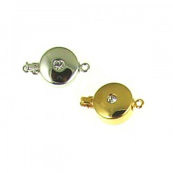 Brass Coin 12mm Clasp