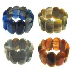 Agate Cushion Elastic Bracelet