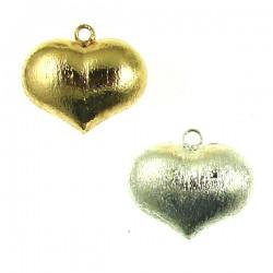 Brass Matte Heart