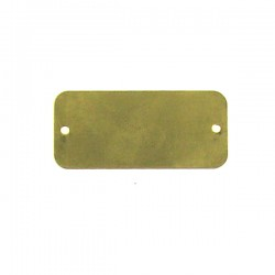 Brass Rectangle Tag