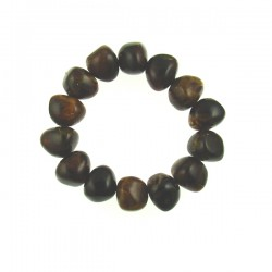 Brown Nugget Imitation Elastic Bracelet