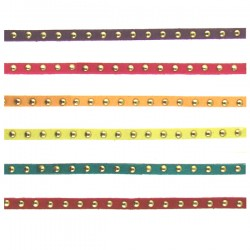 Faux Leather Cord 5mm Gold Color Dots