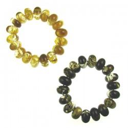 Imitation Amber Nugget Elastic Bracelet