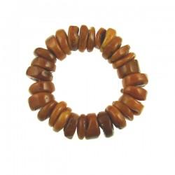 Imitation Amber Roundel Elastic Bracelet