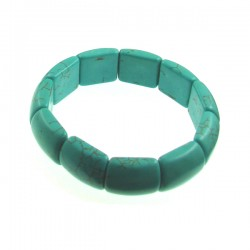 Rect Turquoise Elastic Bracelet