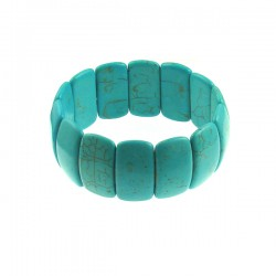 Rect Turquoise Rectangle Elastic Bracelet